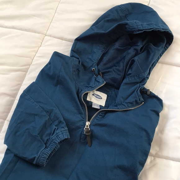 Quarter zip Canvas Popover Jacket
